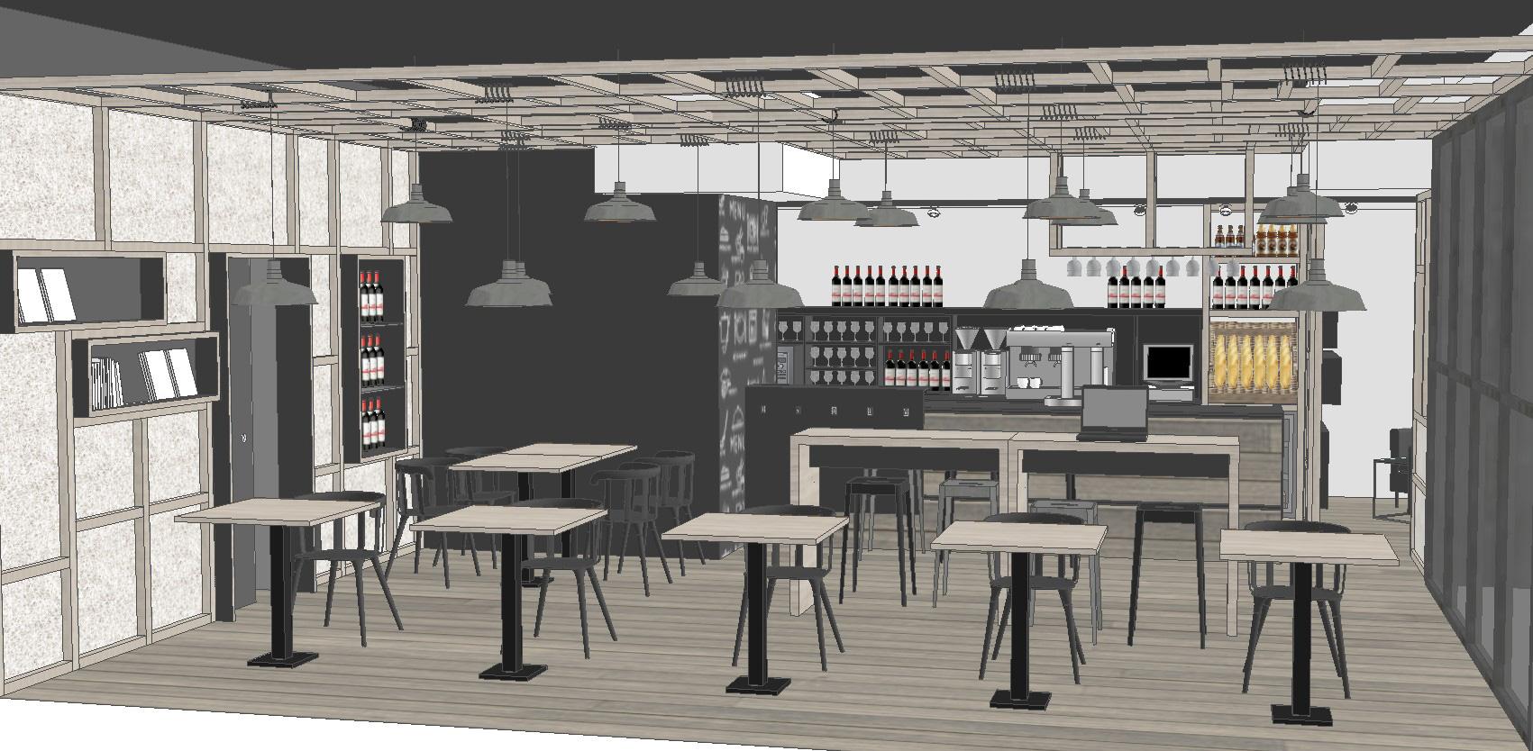 Bar en lezkairu reformas de viviendas decoraci n - Proyecto bar cafeteria ...