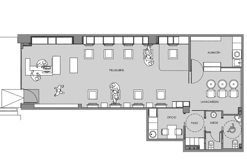 Peluquer a marco pm reformas de viviendas decoraci n dise o arquitectura interior - Proyecto de peluqueria ...